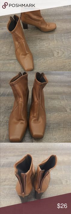SALE! 12/3 only! Franco Sarto boots Beautiful Franco Sarto camel colored ankle boots size 9.5 all man made materials Franco Sarto Shoes Ankle Boots & Booties