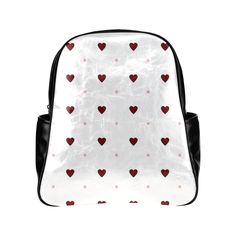 Red Heart and Pink Polka Dots Multi-Pockets Backpack (Model 1636)