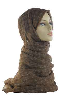 Beautiful Print Hijab to accentuate any of our abayas! Perfect for any occasion or as a gift! Fabric: 100% Polyester