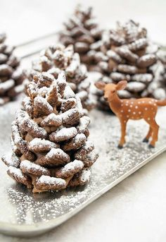 Quick and Easy Snowy Chocolate Pinecones Recipe- I need to make these for apollo!