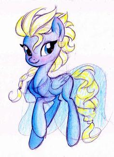 Elsa my little pony nailed it