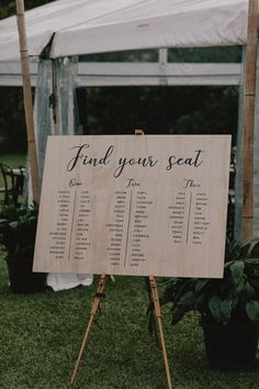 modern wedding timber seating planner