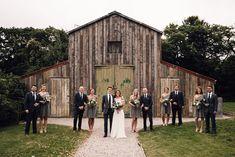 Rustic Barn Wedding at Nancarrow Farm Nr Truro, Cornwall Fall Wedding Bouquets, Fall Wedding Flowers, Autumn Wedding, Fall Bridesmaid Dresses, Grey Bridesmaids, Greenery Decor, Rustic Barn, Wedding Bride, Bridal Gowns