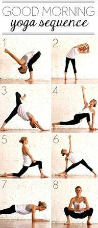 Good morning yoga sequence #yoga