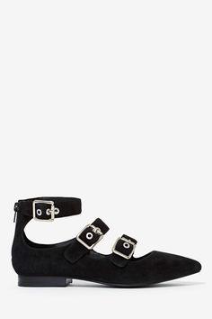 Jeffrey Campbell Kieran Suede Flat | Shop Shoes at Nasty Gal