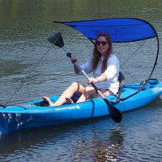 Amazon.com : WindPaddle Sun Shade Kayak Bimini-Blue : Sports & Outdoors