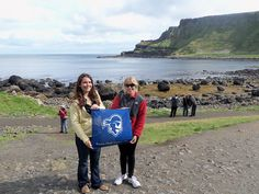 Eilish R. Harrington '08 and Caitlin E. Krako '09 at the Giant's Causeway in County Antrim, Ireland, on August 14, 2012.