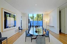 LOS ANGELES / BEL-AIR:  A. Quincy Jones house built in 1965, purchased by Jennifer Aniston in January 2012.  Pictured:  dining room.