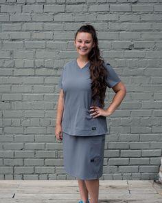 Scrub Skirts, Nursing Uniforms, Work Clothes, Scrubs, Peplum Dress, That Look, Career, Medical, Future
