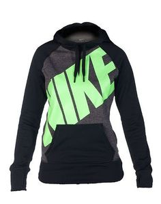 NIKE WOMENS BIG NIKE ALL TIME PO FLEECE HOODIE