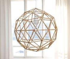 yesterday, today and tomorrow: Ready! Straw Crafts, Diy Straw, Geometric Decor, Geometric Designs, Straw Sculpture, Straw Decorations, Diy Luminaire, Straw Art, Geometric Sculpture