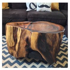 "Monkey Pod freeform coffee table. 19"" h X 30"" w X 20"" d.  Made by 5&2 Woodworks."