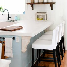 I've got a post up addressing all the questions I've received about our DIY corian countertops.  Read it to find out how we saved thousands and there is plenty of details if you want to determine if this is a project you can do.  Extra bonus - Mr. TIDBITS wrote it himself! (Which I thought was so sweet of him). #ontheblog by camitidbits