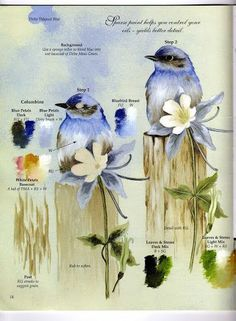 Sherry C. Nelson - For the first time oil painter - patricia rojas - Álbumes web de Picasa China Painting, Diy Painting, Painting & Drawing, Donna Dewberry Painting, Tole Painting Patterns, Oil Painters, Learn To Paint, Bird Art, Painting Inspiration