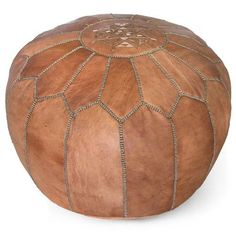 Prop up your feet or add some chic extra seating with one of our leather morocan poufs. Perfect for small spaces or anyone looking for bohemian flair.