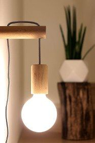 Farmhouse Lighting Design Tips Now is the perfect to start thinking about redecorating your farm home's interior. Bedroom Lighting, Home Lighting, Bedside Lighting, Lampe Edison, Wooden Hinges, Deco Luminaire, Tent Decorations, Bed Lights, Wooden Lamp
