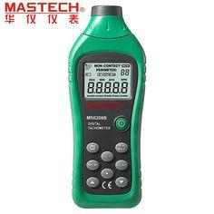 MASTECH MS6208B бесконтактный Цифровой Тахометр 50 ОБ./МИН.-99999 ОБ./МИН. с высокоскоростной микроконтроллер