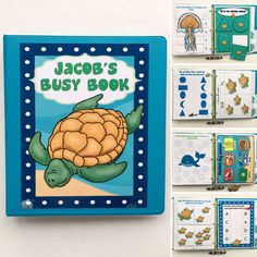 LET ME MAKE IT FOR  YOU! Toddler Under the Sea Busy Book/Quiet Book, Customized, ocean animals, Dry Erase, Velcro, workbook, activities, preschool, games, turtles