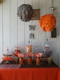 Leopard and orange candy buffet, candybuffet101.com