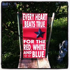 "12"" x 23.5"" Fourth of July sign, July decor...Patriotic, Americana,  on Etsy, $32.00"