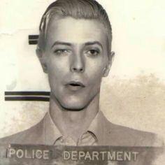 David Bowie, Mugshot, from For alleged possesion of marijauna. In my opinion the most beautiful mugshot ever taken ! Glam Rock, David Bowie Ziggy, David Bowie Eyes, The Thin White Duke, Goblin King, Pretty Star, Life On Mars, Ziggy Stardust, David Jones