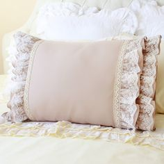 Embroidery Crochet Cotton Lace Luxury Victorian Shabby Cottage French Parisian Wedding Turquoise Blue Brown Pillow Sham Cushion Cover - Care - Skin care , beauty ideas and skin care tips Shabby Chic Pillows, Shabby Chic Bedrooms, Shabby Chic Cottage, Diy Pillows, Romantic Bedrooms, Small Bedrooms, Guest Bedrooms, Ruffle Pillow, Pillow Shams