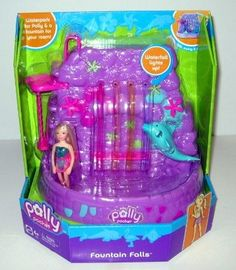 Baby Polly Pocket Fountain Falls Playset - One if my favorite birthday presents! Barbie 90s, Barbie Doll Set, Right In The Childhood, Childhood Days, Polly Pocket World, For Elise, Rope Swing, 90s Kids, Imaginative Play