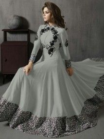 Pakistani latest Anarkali dress designs 2020 are ready in the market. You can find many varieties of sarees here including Anarkali Frocks Design, Party Wear Anarkali Suits and Indian Gowns Dresses, Indian Fashion Dresses, Indian Designer Outfits, Pakistani Dresses, Indian Outfits, Designer Anarkali Dresses, Designer Gowns, Stylish Dress Designs, Stylish Dresses