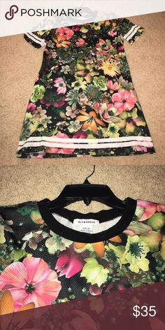 Floral jersey dress Jersey material. Super cute and sporty! Dresses Mini