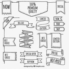 Banners Premium no estilo esboçado Vetor grátis