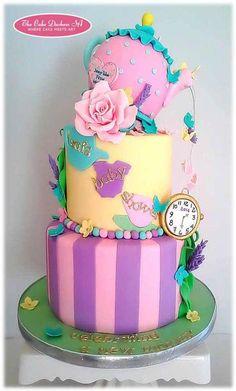 Alice in Wonderland themed Baby Shower cake