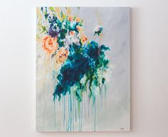chic abstract floral painting by Megan Carty www.megancartyart.com