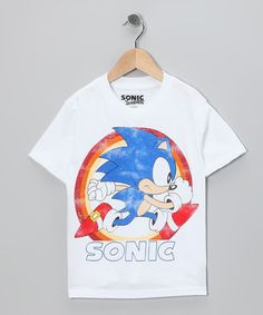 Take a look at this White 'Sonic' Tee - Kids by Super Mario Bros. on #zulily today!