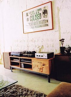 This is what i want my entertainment area to look like!