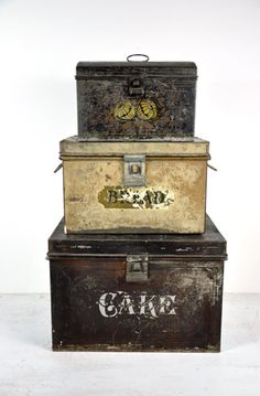 vintage tins and canisters can be used all round the house to store mundane, unglamourous but essential items