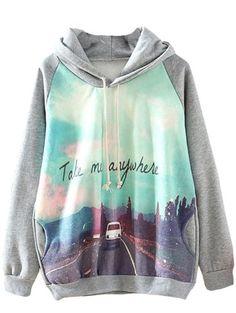 Sheinside Grey Hooded Long Sleeve Car Print Sweatshirt Hoodies (L, Grey) Sheinside http://www.amazon.com/dp/B00JE5N7NY/ref=cm_sw_r_pi_dp_scUwub1XY24SN