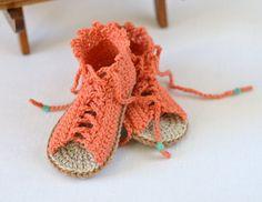 GANCHILLO patrón bebé sandalias bebé Gladiator por matildasmeadow