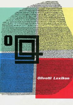Olivetti Lexikon 'Rosetta Stone' Poster