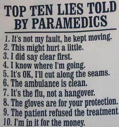 paramedic top ten lies