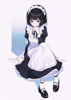 Maid art kawaii cute girl 女 b Anime Girls, Manga Girl, Kawaii Girl, Kawaii Anime, Cute Characters, Anime Characters, Manga Japan, Anime Maid, Anime Lindo
