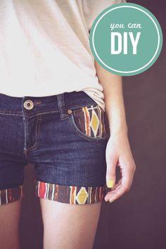 Sausage Jar | Pattern up your denim shorts