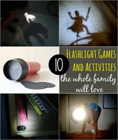 Flashlight games and activites - love this list! # 5 sounds so fun