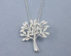 Sterling Silver Tree Necklace with 18 inch by BeautifulByCharlene, $44.00