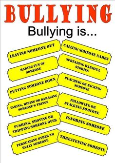Bullying lessons - Talk To Your Kids! Bullying Is – Bullying lessons Bullying Posters, Bullying Statistics, Bullying Quotes, Anti Bullying Activities, Anti Bullying Lessons, Relation D Aide, Stop Bullying, School Psychology, Therapy Worksheets