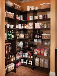 Browse stunning images of beautifully-organized pantries, and get inspired to reorganize your own kitchen storage space.