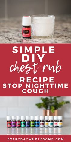 How to stop nonstop coughing at night | DIY Chest Rub Recipe