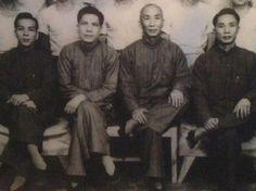 SWK - Ip Man - Group (Unknown, Leung Sheung, Ip Man, Yip Bo Ching) 1955