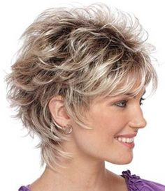Short Layered Hairstyles From year to year, a short hairstyle is traditionally topped by the lists of the most popular female haircuts. In the 2019 se. Shaggy Short Hair, Short Layered Haircuts, Short Hairstyles For Thick Hair, Haircut For Thick Hair, Pixie Haircut, Curly Hair Styles, Layered Hairstyles, Short Pixie, Fine Hairstyles