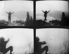 Tentativo Di Far Formare Dei Quadrati Invece Che Dei Cerchi Intorno ad un Sasso Che Cade Nell'acqua, 1970  and  Tentativo di Volo, 1970  by Gino de DOMINICIS