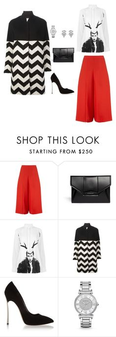 """""""the Bold and the Beautiful"""" by style-nerd ❤ liked on Polyvore featuring Chalayan, Givenchy, McQ by Alexander McQueen, Forte Forte, Casadei, Michael Kors and DANNIJO"""